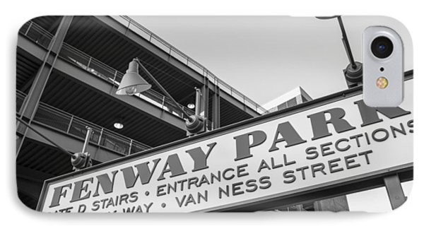 Fenway Park Sign IPhone Case by John McGraw