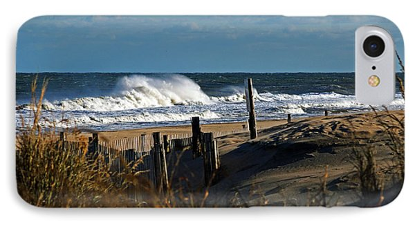 Fenwick Dunes And Waves IPhone Case by Bill Swartwout