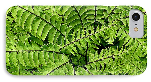 Fern Abstract IPhone Case by Brian Chase