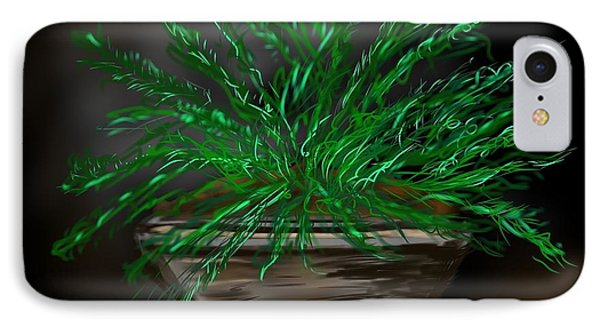 IPhone Case featuring the digital art Fern by Christine Fournier