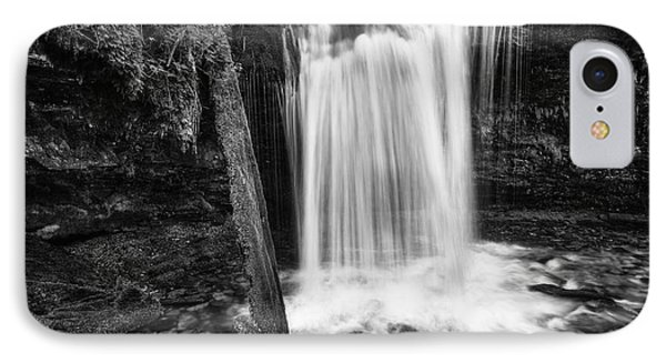 Fern Falls Black And White IPhone Case