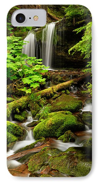 Fern Falls Panoramic IPhone Case by Leland D Howard