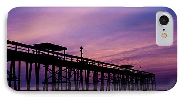 Fernandina Fishing Pier At Sunrise Phone Case by Dawna  Moore Photography