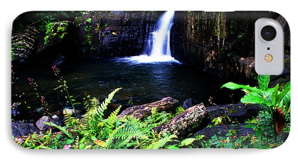 Ferns Flowers And Waterfall Phone Case by Thomas R Fletcher