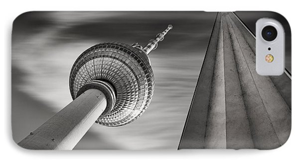 Fernsehturm Berlin IPhone Case by Rod McLean