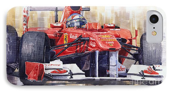2011 Ferrari 150 Italia Fernando Alonso F1   IPhone Case by Yuriy  Shevchuk