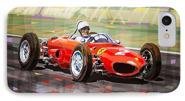 Ferrari 156 Dino British Gp1962 Phil Hill IPhone Case
