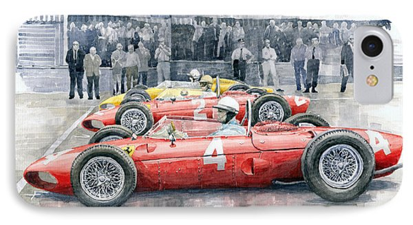 Ferrari 156 Sharknose 1961 Belgian Gp IPhone Case