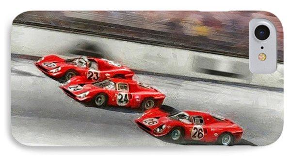 Ferrari 1967 Daytona IPhone Case by Tano V-Dodici ArtAutomobile