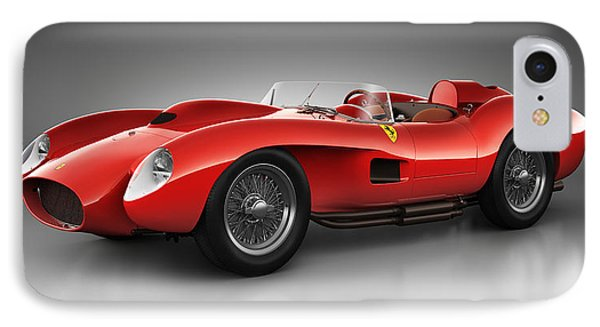 IPhone Case featuring the digital art Ferrari 250 Testa Rossa - Spirit by Marc Orphanos