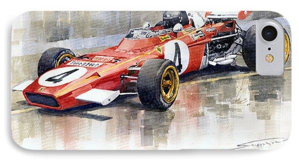 Ferrari 312 B2 1971 Monaco Gp F1 Jacky Ickx IPhone Case by Yuriy  Shevchuk