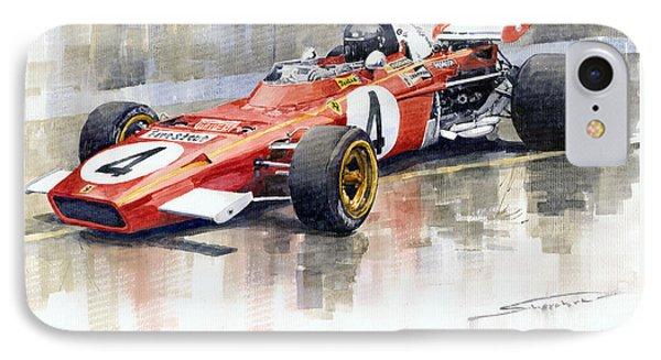 1971 Ferrari 312 B2 1971 Monaco Gp F1 Jacky Ickx IPhone Case by Yuriy  Shevchuk