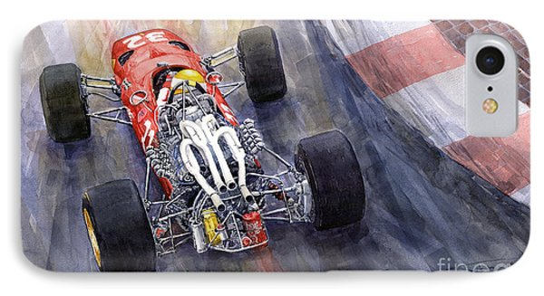 Ferrari 312 F1 1967 IPhone Case by Yuriy Shevchuk