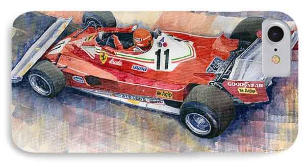 Ferrari 312 T2 Niki Lauda 1977 Monaco Gp IPhone Case by Yuriy  Shevchuk