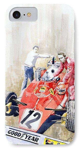 Ferrari 312t Monaco Gp 1975 Niki Lauda Winner IPhone Case by Yuriy  Shevchuk
