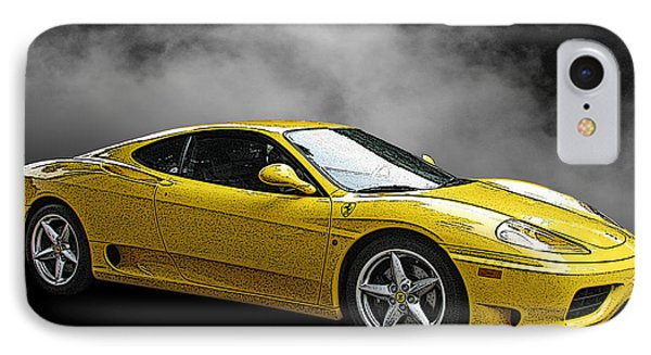 Ferrari 360 Modena Side View IPhone Case by Samuel Sheats