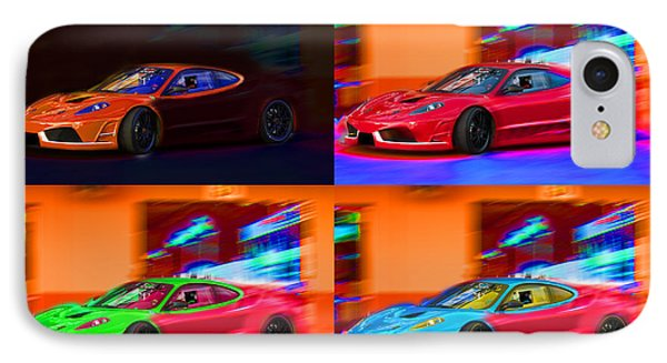 IPhone Case featuring the photograph Ferrari Collage by Gunter Nezhoda