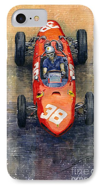 Ferrari Dino 156 1962 Monaco Gp IPhone Case by Yuriy Shevchuk
