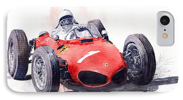 Ferrari Dino 156 F1 1961  IPhone Case by Yuriy  Shevchuk