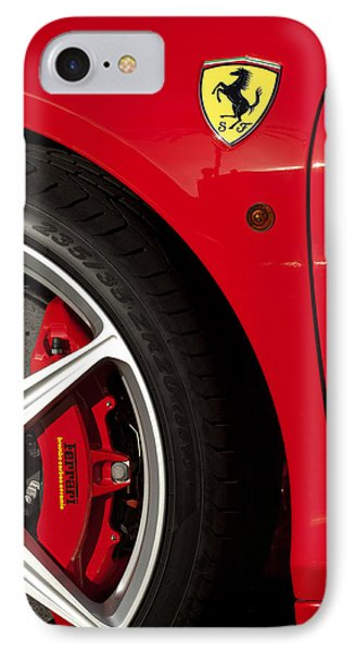 Ferrari Emblem 3 Phone Case by Jill Reger