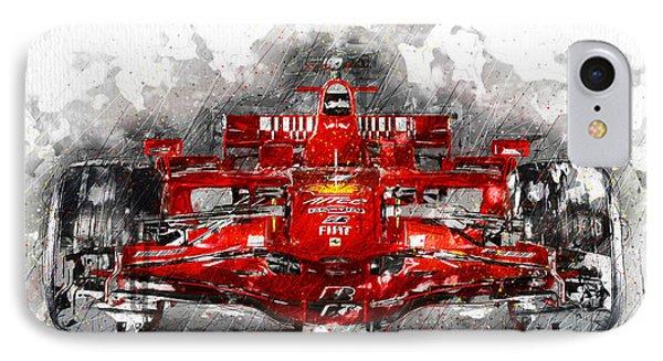 Ferrari F1 IPhone Case by Gary Bodnar