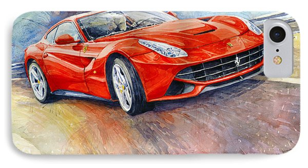 2014 Ferrari F12 Berlinetta  IPhone Case by Yuriy Shevchuk