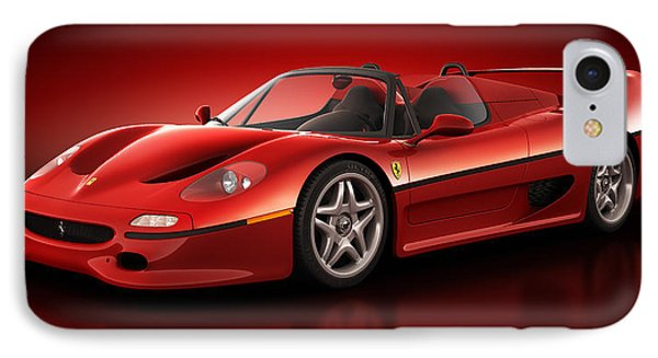 Ferrari F50 - Flare Phone Case by Marc Orphanos