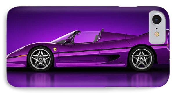 Ferrari F50 - Neon Phone Case by Marc Orphanos
