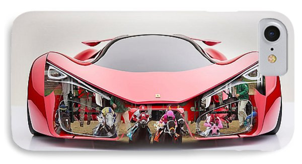 Ferrari F80 Race Horse IPhone Case by Marvin Blaine