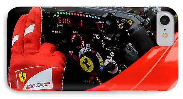 Ferrari Formula 1 Cockpit IPhone Case by Marvin Blaine