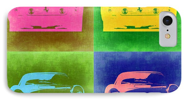 Ferrari Front Pop Art 3 IPhone Case by Naxart Studio