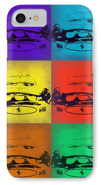 Ferrari Front Pop Art 5 IPhone Case by Naxart Studio