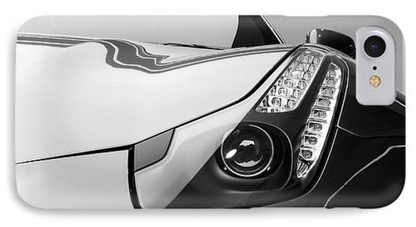 IPhone Case featuring the photograph Ferrari Headlight by Matt Malloy