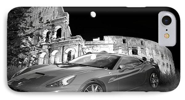 Ferrari In Rome IPhone Case by Stefano Senise