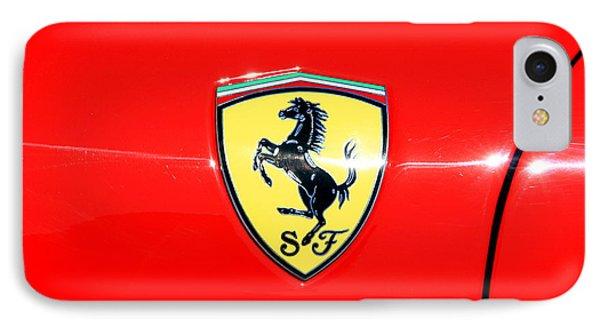 Ferrari Logo IPhone Case by Valentino Visentini