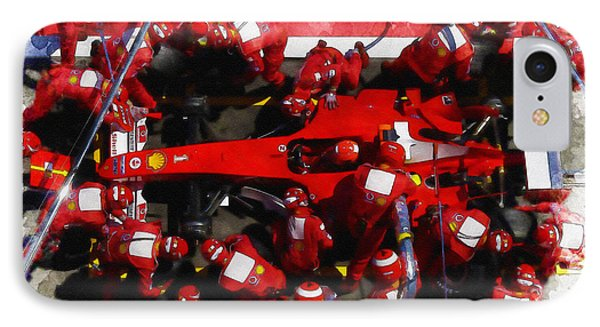 Ferrari Make Changes In Pit Lane IPhone Case