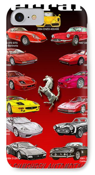 Ferrari Poster Art Phone Case by Jack Pumphrey