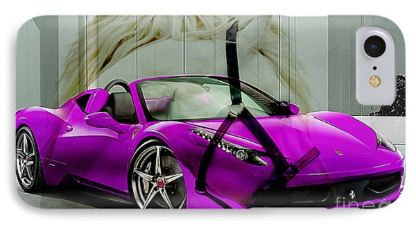 Ferrari Raw Horse Power IPhone Case by Marvin Blaine