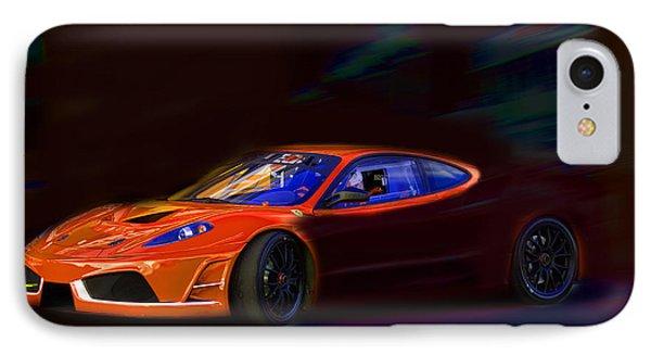 IPhone Case featuring the photograph Ferrari Shadow by Gunter Nezhoda