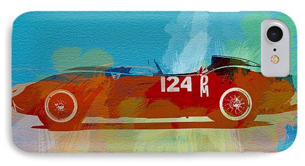 Ferrari Testa Rossa Watercolor 1 IPhone Case