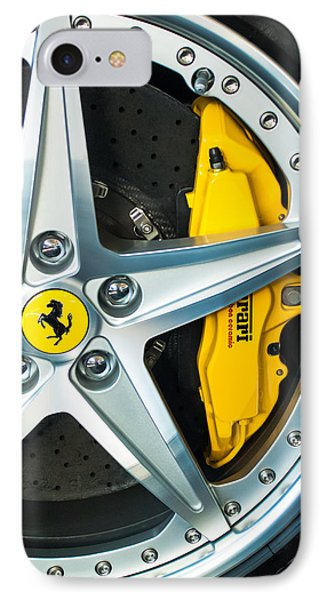 Ferrari Wheel 3 IPhone Case by Jill Reger