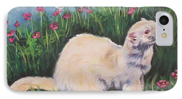 Ferret IPhone Case by Lee Ann Shepard