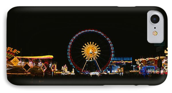 Ferris Wheel And Neon Signs Lit IPhone Case