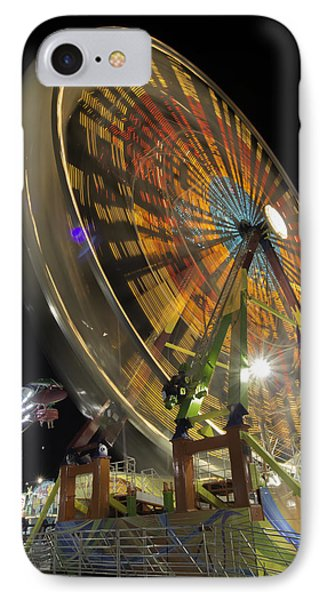 Ferris Wheel At Night IPhone Case by Bob Noble Photography
