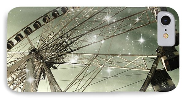 Ferris Wheel At Night In Paris Phone Case by Marianna Mills