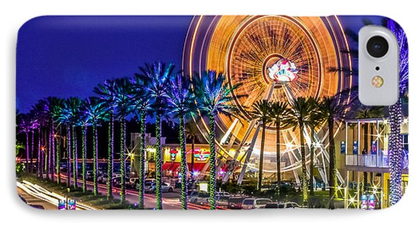 Ferris Wheel At The Wharf IPhone Case by Rob Sellers