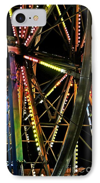 IPhone Case featuring the photograph Lit Ferris Wheel  by Lilliana Mendez