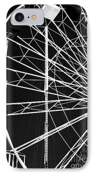 Ferris Wheel Lines Phone Case by John Rizzuto