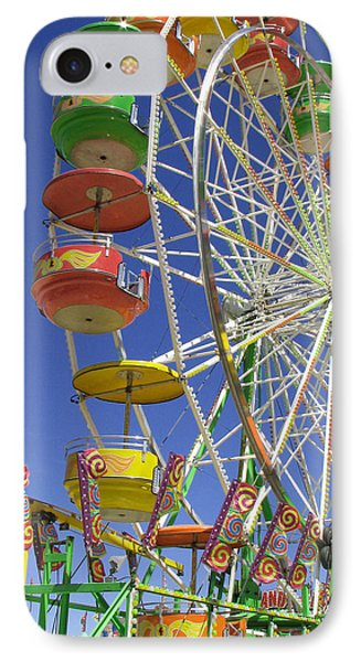 Ferris Wheel IPhone Case by Marcia Socolik