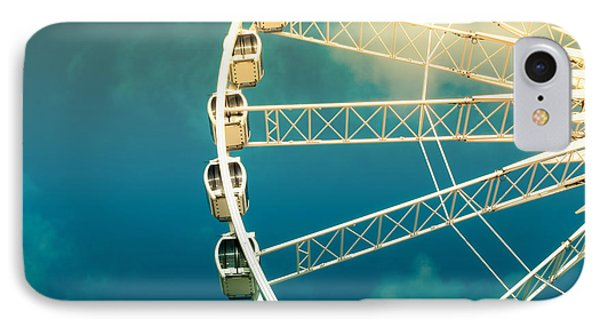 Ferris Wheel Old Photo IPhone Case by Jane Rix